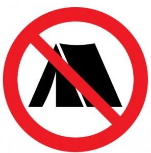 キャンプ禁止マーク