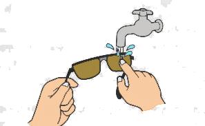 メガネ洗浄方法