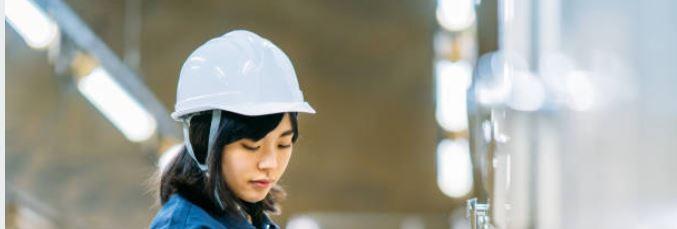 女性 安全ヘルメット