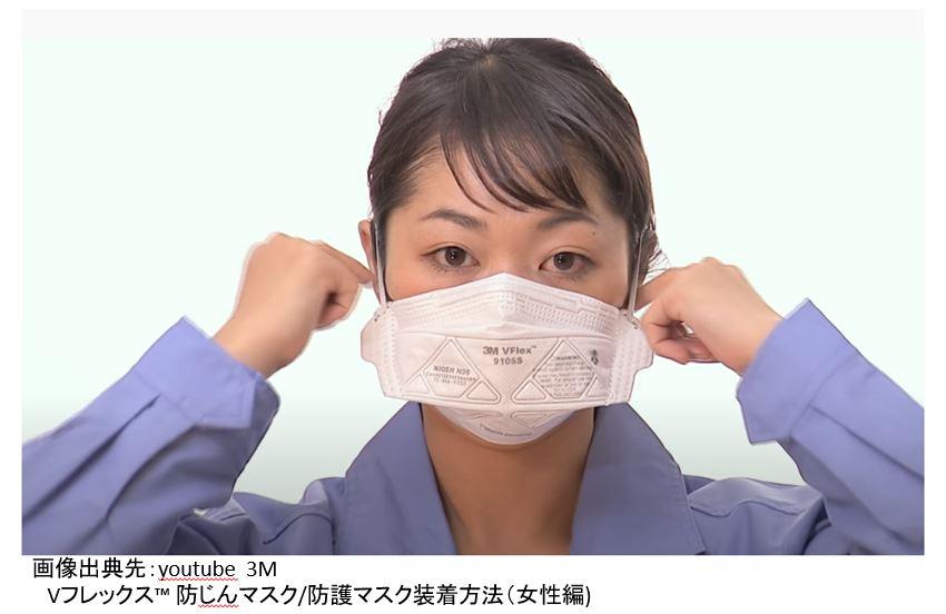 動画 2つ折りタイプ 防じんマスク/防護マスクの着用
