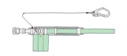 胴ベルト型安全帯(1本つり専用(補助ベルト付)