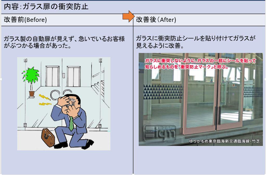 ガラス扉の衝突防止